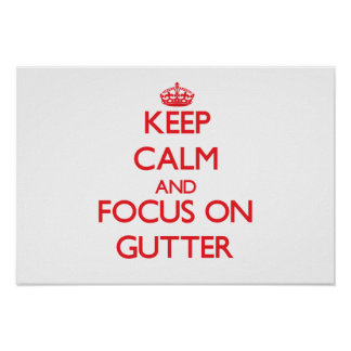 Keep Calm and focus on Gutter Posters