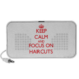 Keep Calm and focus on Haircuts iPhone Speaker