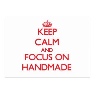 Keep Calm and focus on Handmade Business Cards