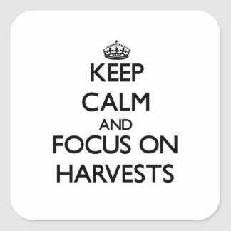 Keep Calm and focus on Harvests Sticker