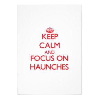 Keep Calm and focus on Haunches Custom Invitations