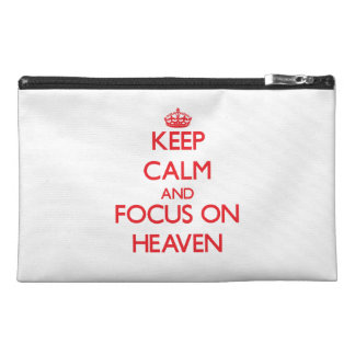 Keep Calm and focus on Heaven Travel Accessories Bag
