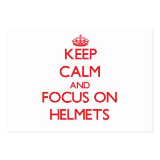 Keep Calm and focus on Helmets Business Card