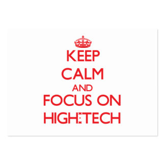 Keep Calm and focus on High-Tech Large Business Cards (Pack Of 100)