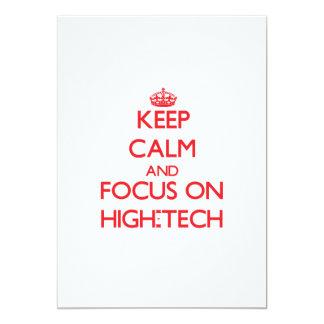 Keep Calm and focus on High-Tech Announcement
