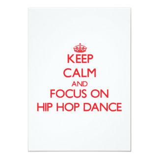 Keep calm and focus on Hip Hop Dance Cards