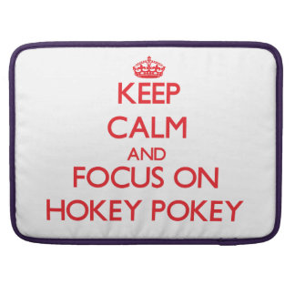 Keep Calm and focus on Hokey Pokey Sleeves For MacBook Pro