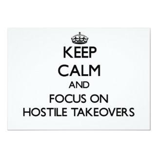 Keep Calm and focus on Hostile Takeovers Invites
