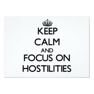 "Keep Calm and focus on Hostilities 5"" X 7"" Invitation Card"