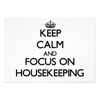Keep Calm and focus on Housekeeping Card