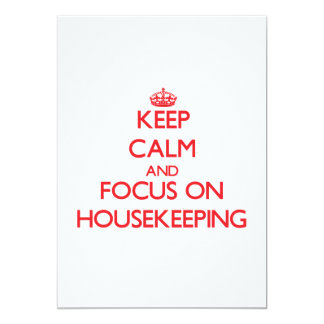 Keep Calm and focus on Housekeeping Custom Announcements