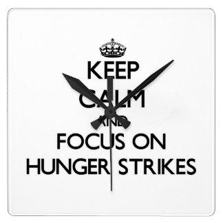 Keep Calm and focus on Hunger Strikes Clocks
