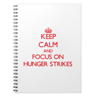 Keep Calm and focus on Hunger Strikes Note Books