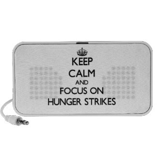 Keep Calm and focus on Hunger Strikes Notebook Speakers