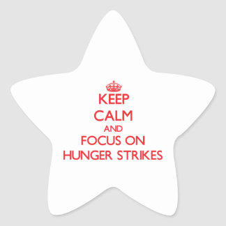 Keep Calm and focus on Hunger Strikes Stickers