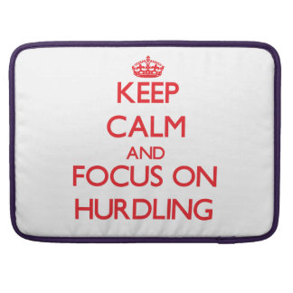 Keep calm and focus on Hurdling Sleeve For MacBooks