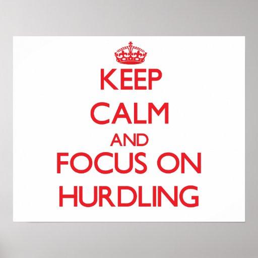 Keep calm and focus on Hurdling Print
