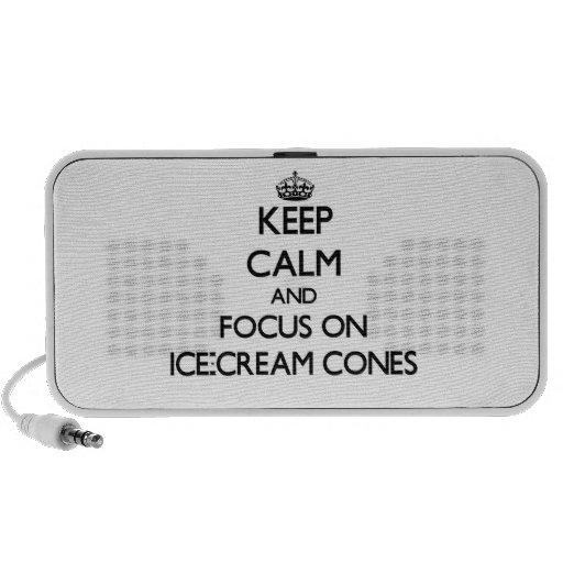 Keep Calm and focus on Ice-Cream Cones iPod Speakers