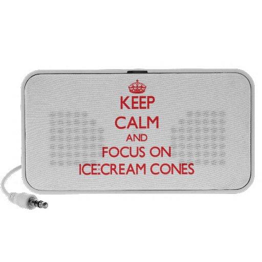 Keep Calm and focus on Ice-Cream Cones Speakers