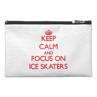 Keep Calm and focus on Ice Skaters Travel Accessories Bags