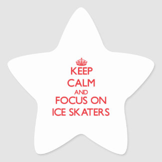 Keep Calm and focus on Ice Skaters Stickers