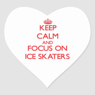 Keep Calm and focus on Ice Skaters Sticker