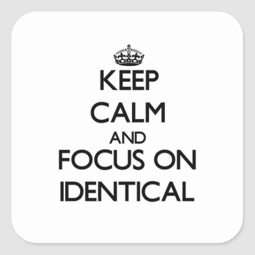 Keep Calm and focus on Identical Sticker