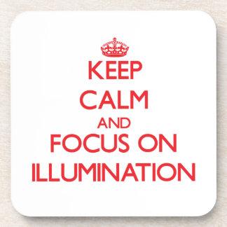 Keep Calm and focus on Illumination Coasters