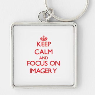 Keep Calm and focus on Imagery Keychains