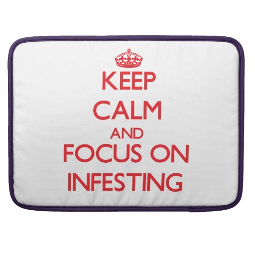Keep Calm and focus on Infesting MacBook Pro Sleeves