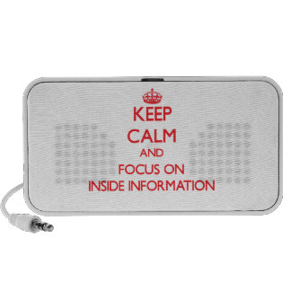 Keep Calm and focus on Inside Information Notebook Speakers