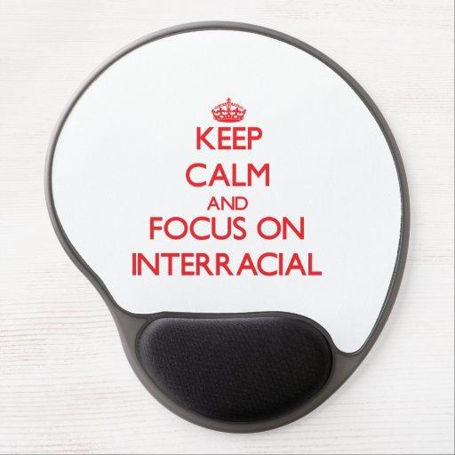 Keep Calm and focus on Interracial Gel Mousepad