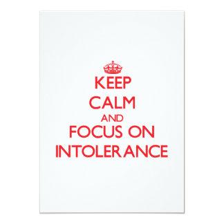 "Keep Calm and focus on Intolerance 5"" X 7"" Invitation Card"