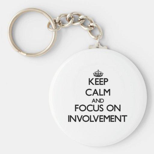 Keep Calm and focus on Involvement Keychain