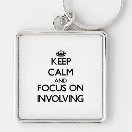 Keep Calm and focus on Involving Keychain