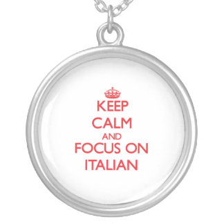 Keep Calm and focus on Italian Necklaces