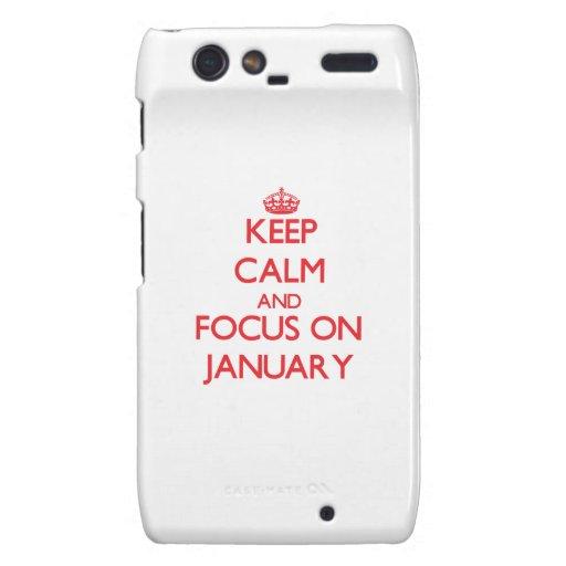Keep Calm and focus on January Motorola Droid RAZR Covers