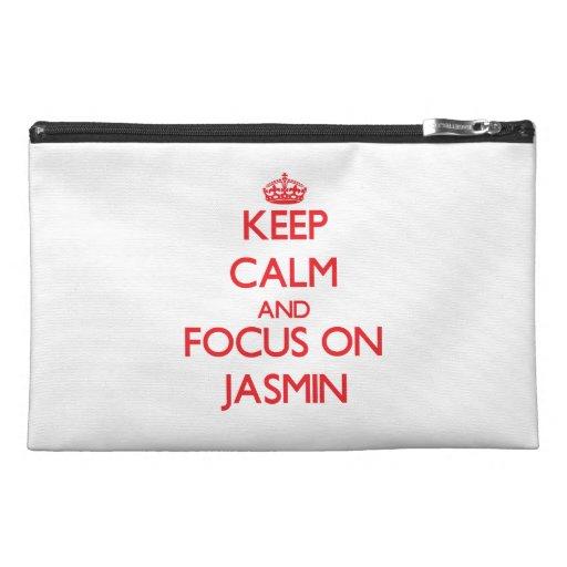 Keep Calm and focus on Jasmin Travel Accessory Bag