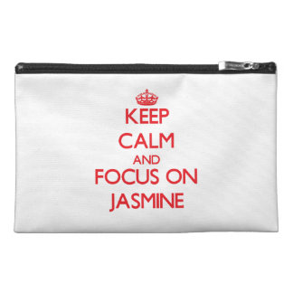 Keep Calm and focus on Jasmine Travel Accessory Bags