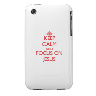 Keep Calm and focus on Jesus iPhone 3 Case