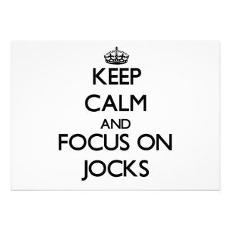 Keep Calm and focus on Jocks Personalized Invite