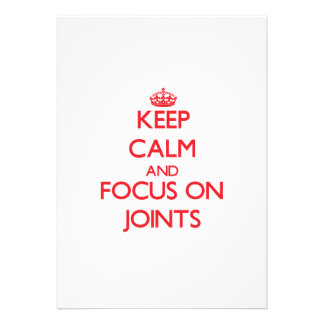 Keep Calm and focus on Joints Card