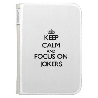 Keep Calm and focus on Jokers Kindle Keyboard Cases