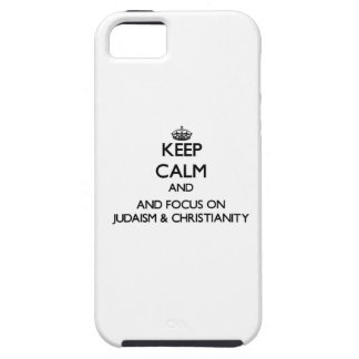 Keep calm and focus on Judaism Christianity Cover For iPhone 5/5S