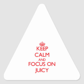 Keep Calm and focus on Juicy Sticker