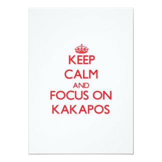 Keep calm and focus on Kakapos 13 Cm X 18 Cm Invitation Card