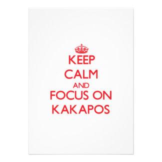 Keep calm and focus on Kakapos Custom Invite