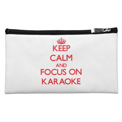 Keep Calm and focus on Karaoke Cosmetics Bags