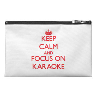 Keep Calm and focus on Karaoke Travel Accessories Bags