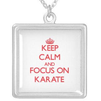 Keep Calm and focus on Karate Custom Jewelry
